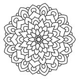 Symmetrische cirkelpatroonmandala Royalty-vrije Stock Foto