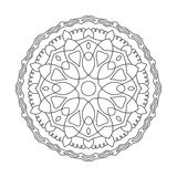 Symmetrische cirkelpatroonmandala Decoratief Oosters patroon Stock Afbeeldingen