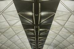 Symmetrische dakstructuur met driehoeken royalty-vrije stock fotografie