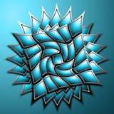 Symmetrische Formen im Blau Stockbild