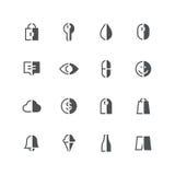 Symmetrische half gekleurde pictogrammen 3 Royalty-vrije Stock Fotografie