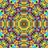 Symmetrische Kaleidoskopmode des abstrakten bunten Musters des Hexagons quadratischen geometrischen nahtlosen stockbild
