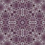 Symmetrische Kaleidoskopmode des abstrakten bunten Musters des Hexagons quadratischen geometrischen nahtlosen stockbilder