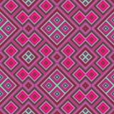 Symmetrische regelmäßige rosa Türkisfliese stock abbildung