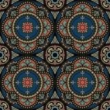Symmetrische samenstelling, naadloze achtergrond Stock Illustratie