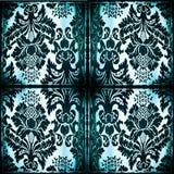 Symmetrische tapijtwerkstof met gebrande randen Stock Afbeelding