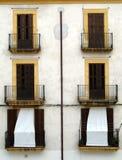 Symmetrische Terrassefrontseite Stockfotos