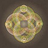 Symmetrische Verzierung mit konzentrischen Kreisen Stockbild