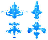 Symmetrischer Farbenfleck Stockbild