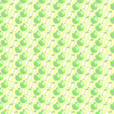 Symmetrischer Pastellhintergrund mit Elementen von Äpfeln Lizenzfreies Stockbild