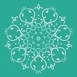 Symmetrisches Blumenmuster Lizenzfreies Stockfoto