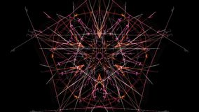 Symmetrisches und buntes Design Digital-Grafik stockfoto