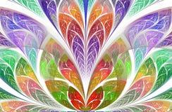 Symmetrisches und magisches Blumenfractalmuster Sch?ne Blume in der Mehrfarbenpalette vektor abbildung