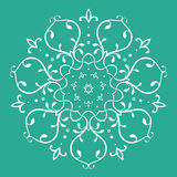 Symmetrisk blom- design Royaltyfri Foto