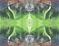 Symmetrisk horisontalbakgrund för smutsigt färgabstrakt begrepp för tappningdesign Hand dragen vattenfärgbild Arkivfoton