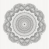 Symmetrisk mandalaprydnad Arkivfoto