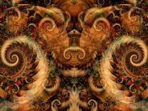 symmetrisk textur för fantasi vektor illustrationer