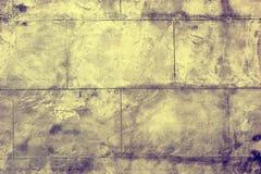 Symmetriska detaljer av en vägg som göras med tjock skiva av beton Royaltyfria Foton