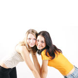symmetriska flickor fotografering för bildbyråer