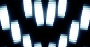 Symmetriska ljusa vågor för fasett stock video