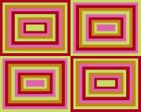 symmetriska retro fyrkanter för bakgrund stock illustrationer