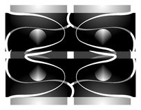 Symmetry. Abstract symmetry background designs elements on white Stock Photography