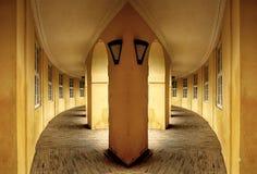 Symmetry. Court inside a Castle in Copenhagen, Denmark Royalty Free Stock Photo