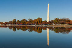 Symmetry. The picture presented to the Washington Monument in Washington,DC Stock Photos