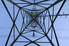 Symmetry. Inside a pylon stock photos
