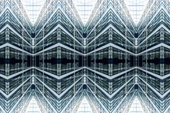 Architectural pattern of a glassy facade royalty free stock photo