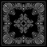 Symmetry bandana ornament. Symmetrical bandana decorative ornament with paisley elements Royalty Free Stock Image