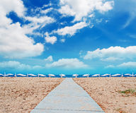 Symmetry on the beach Stock Images