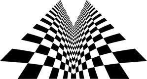 Symmetry checkered. Abstract representation of a chessboard Stock Photos