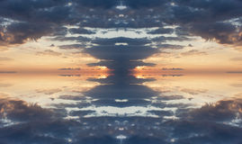 Symmetry of a cloud Royalty Free Stock Images