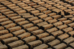 Symmetry and displacement in Bricks during drying process Stock Image