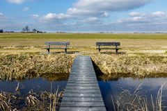 Symmetry in dutch landscape Royalty Free Stock Photos