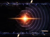 Symmetry of energy Royalty Free Stock Image