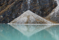 Symmetry at the Everest Nature Reserve. Taken at the Everest Base Camp trek, Nepal Stock Photos