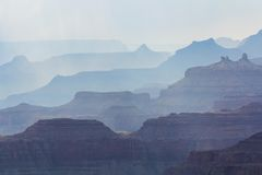 Symmetry of Grand Canyon Royalty Free Stock Photo