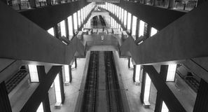 Symmetry In Station Royalty Free Stock Photography