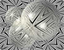 Symmetry Obscured. Abstract geometric design contrasted through clear spheres Stock Images