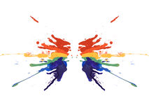Symmetry rainbow paint Stock Photos