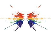 Symmetry rainbow paint. Isolated on white background stock illustration