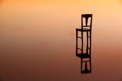 Symmetry reflection at sunset¨ Stock Photos