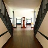 Symmetry. The symmetrical corridor of the Central Residence at the Shaker Village Royalty Free Stock Image