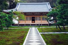 Symmetry temple path moss Royalty Free Stock Photography