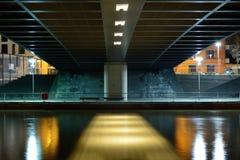 Symmetry under the bridge Royalty Free Stock Images