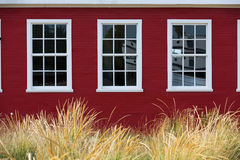 Symmetry of White Windows Royalty Free Stock Image