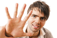 Sympathetic guy Stock Images