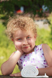 Sympathetic little blond girl Royalty Free Stock Photography